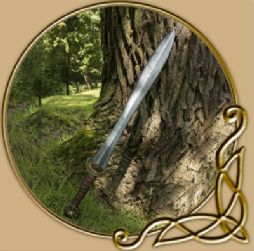 LARP Celtic Leaf Sword 85cm